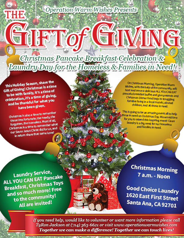 gift of giving flyer