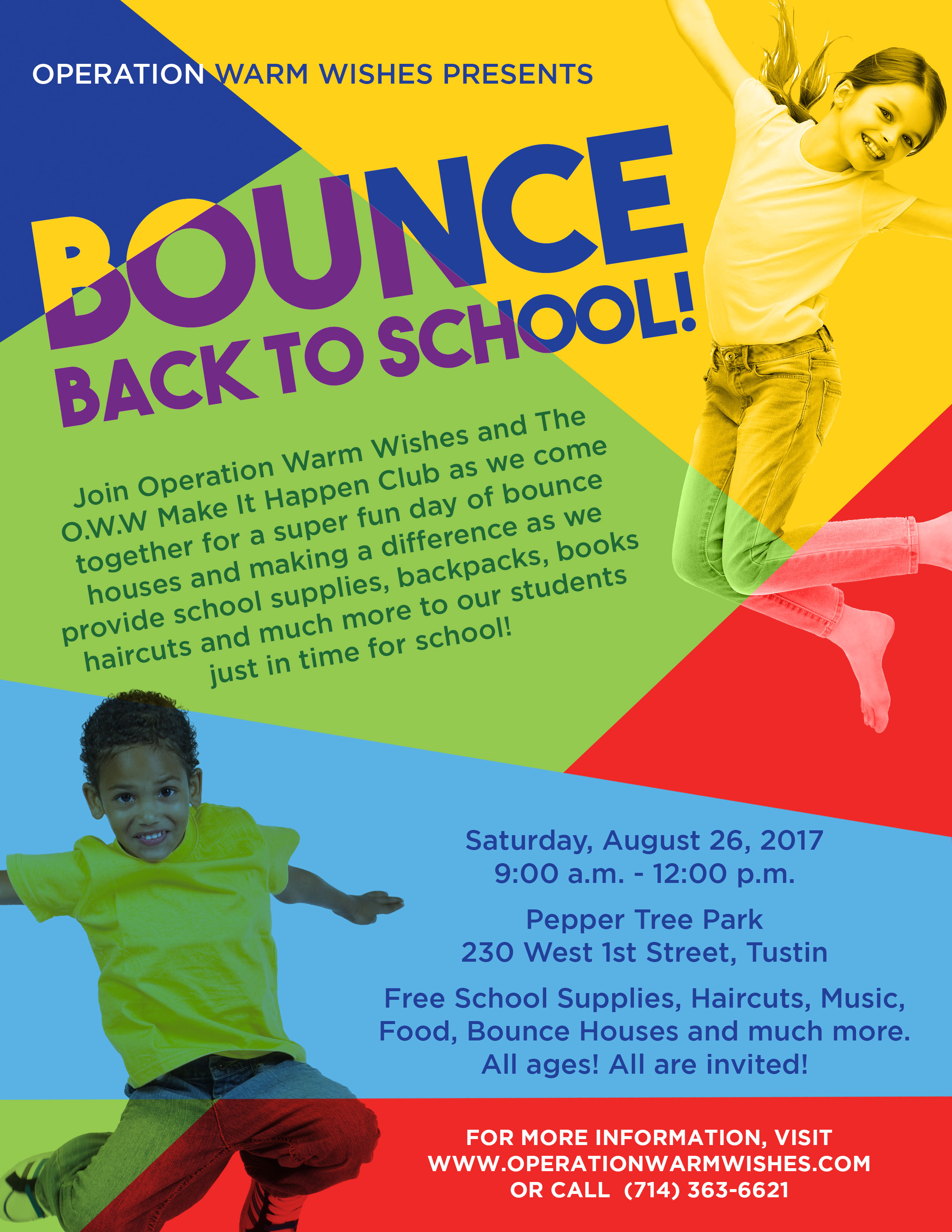 Operation Warm Wishes Presents: Bounce Back To School